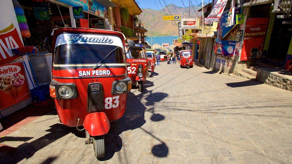 San Pedro La Laguna featuring a small town or village and a coastal town