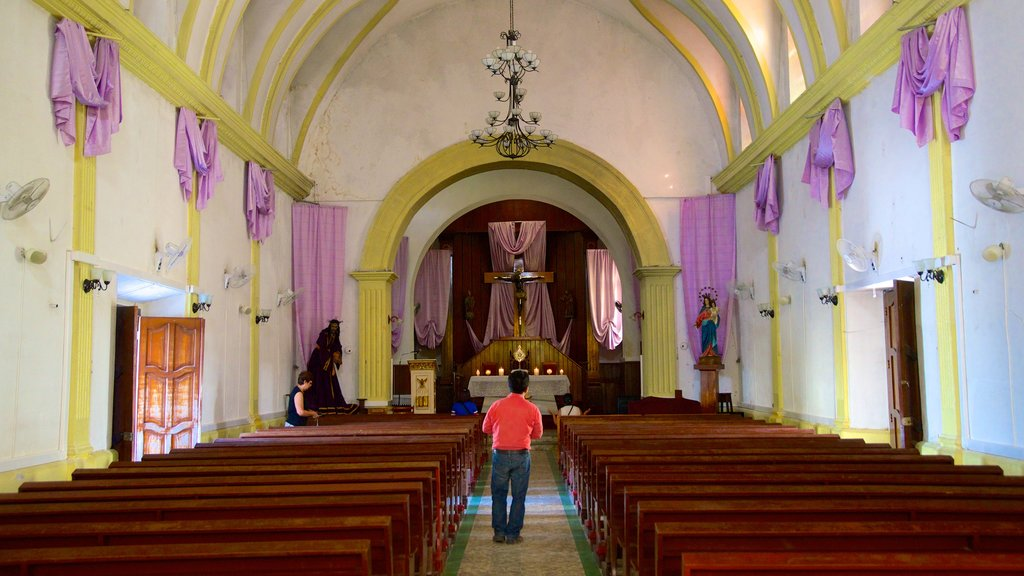 Cathedral of Flores showing interior views and a church or cathedral