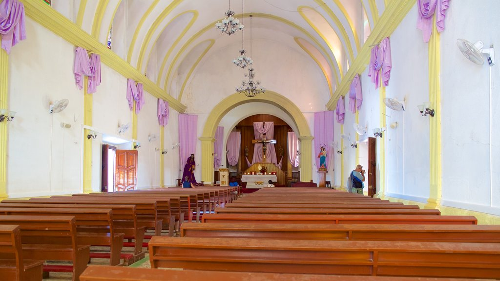 Cathedral of Flores which includes interior views and a church or cathedral