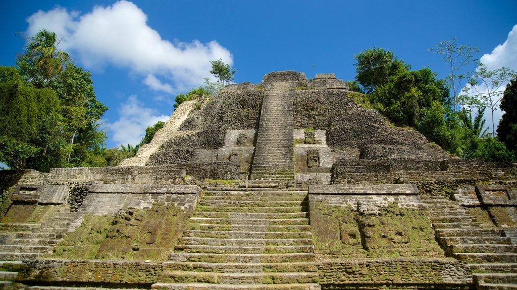 Lamanai ofreciendo un monumento y elementos del patrimonio