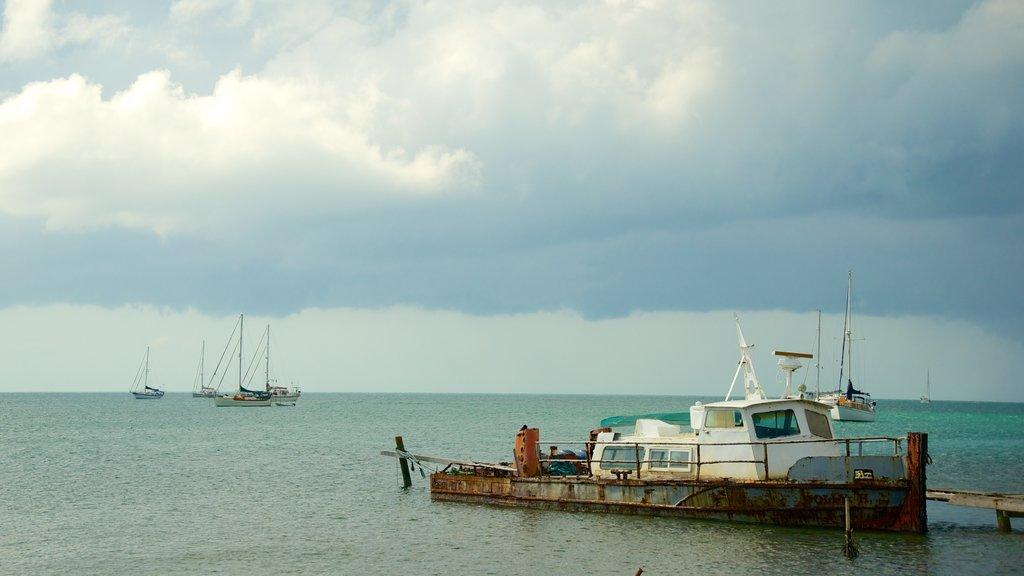 Placencia Beach featuring general coastal views and a bay or harbor