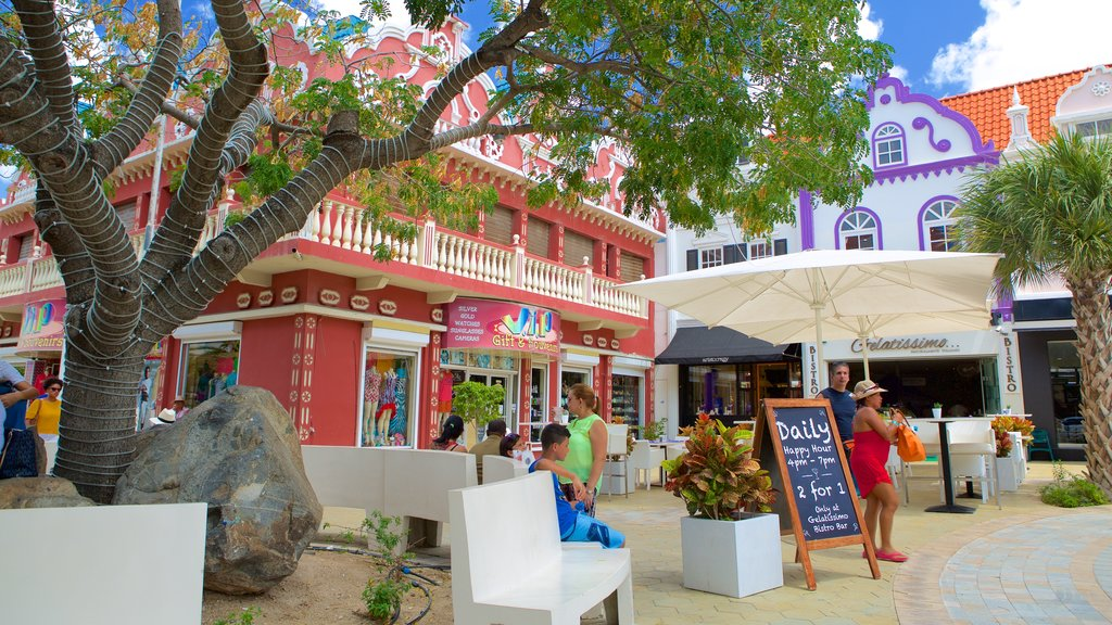 Oranjestad which includes street scenes