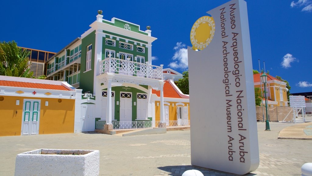 National Archaeological Museum Aruba featuring a small town or village and signage