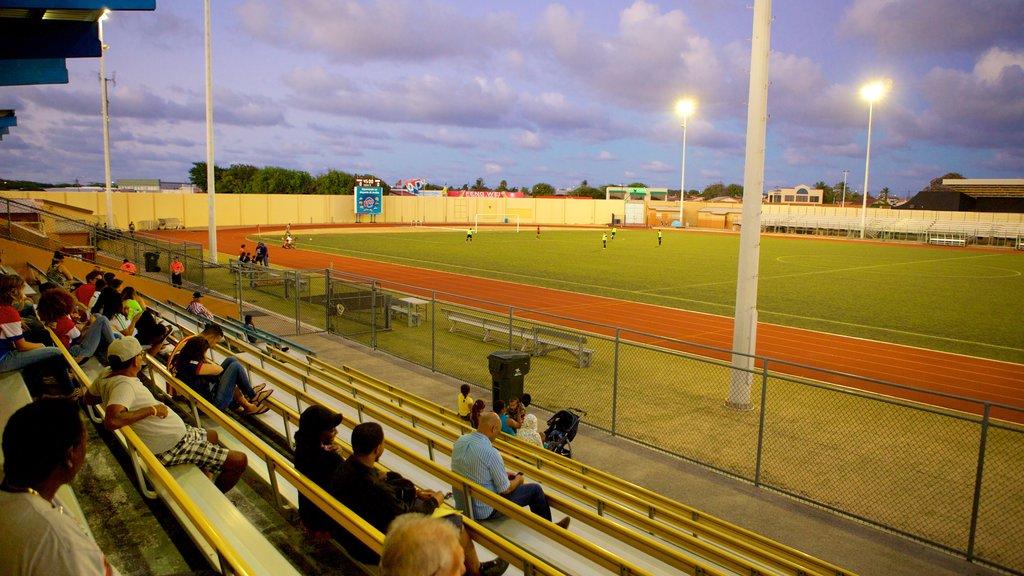 Oranjestad y también un pequeño grupo de personas
