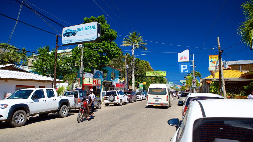 Puerto Plata showing signage and street scenes