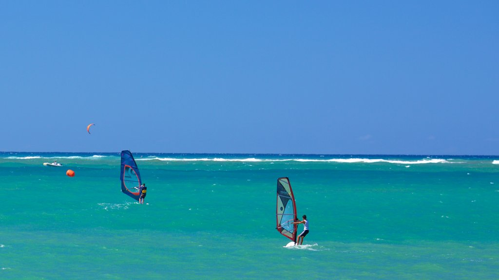 Puerto Plata showing general coastal views and windsurfing