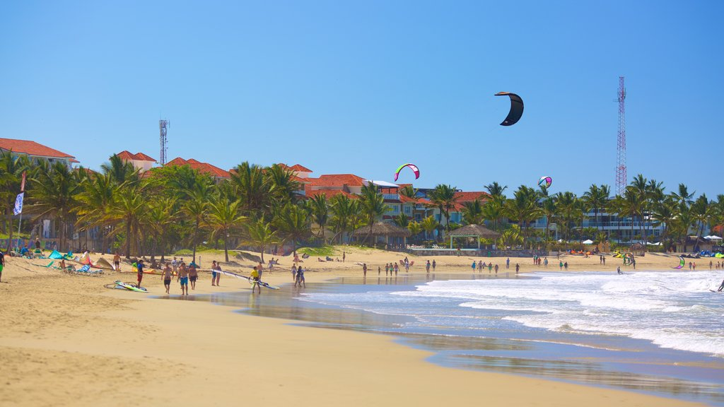 Puerto Plata which includes tropical scenes and a sandy beach