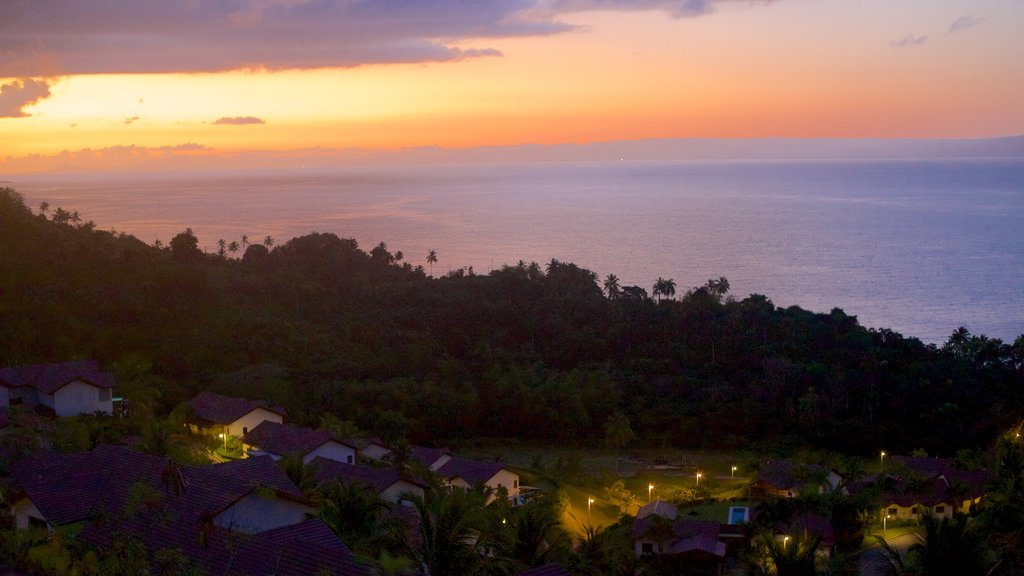 Samana featuring general coastal views, a coastal town and a sunset