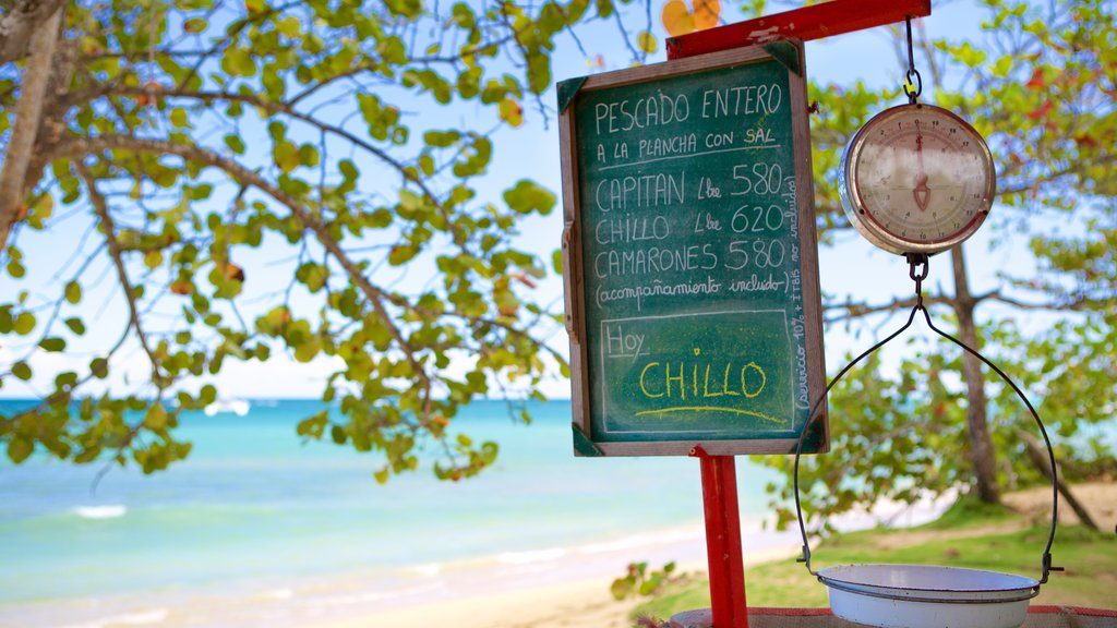 Las Terrenas showing signage