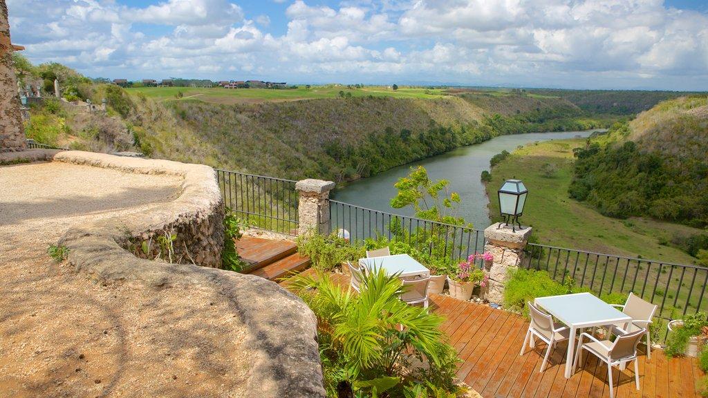 Altos de Chavon Village showing landscape views and a river or creek