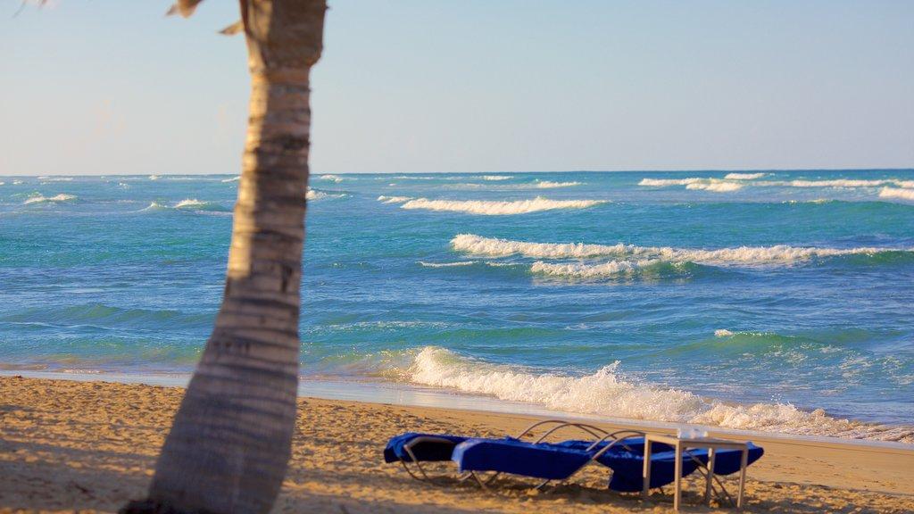 Uvero Alto showing a sandy beach