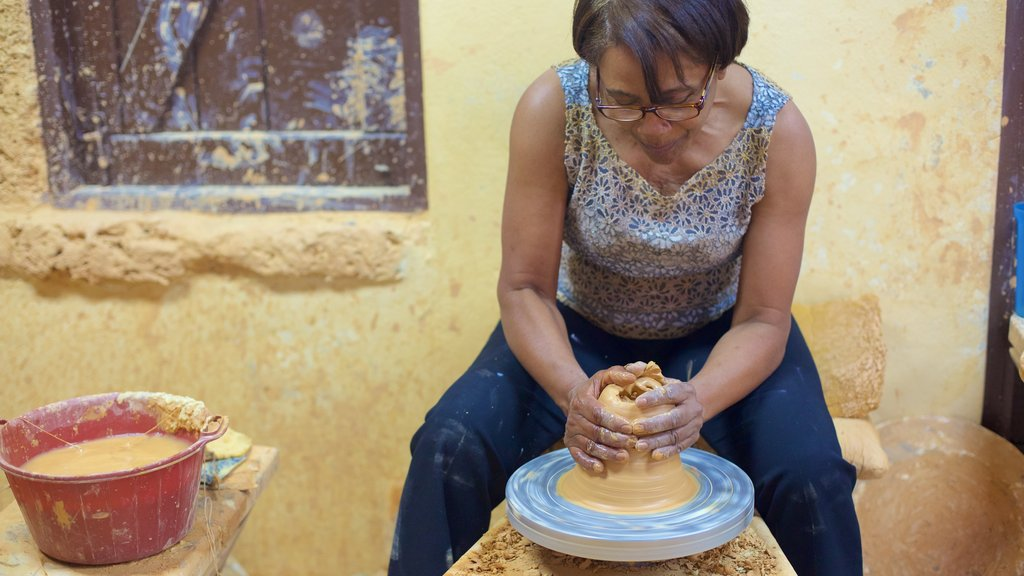 Altos de Chavon Village showing art as well as an individual femail