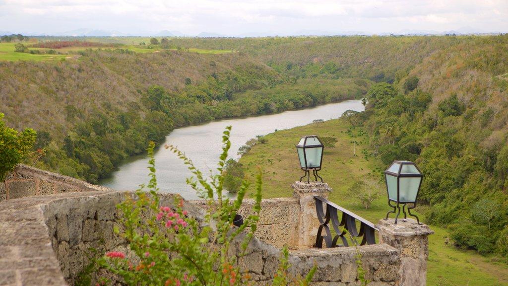 Altos de Chavon Village showing a river or creek