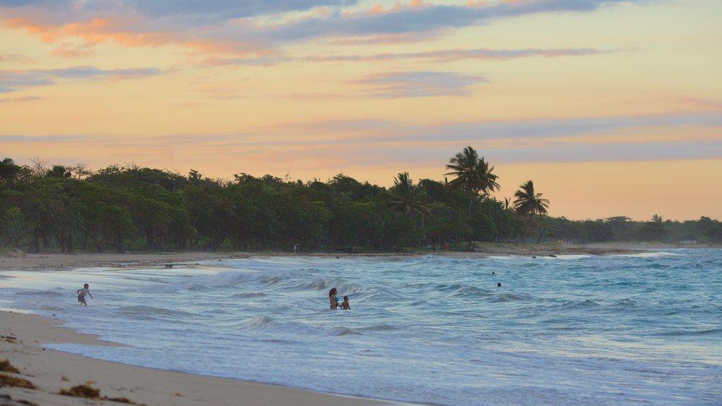 Playa Dorada featuring a beach and a sunset