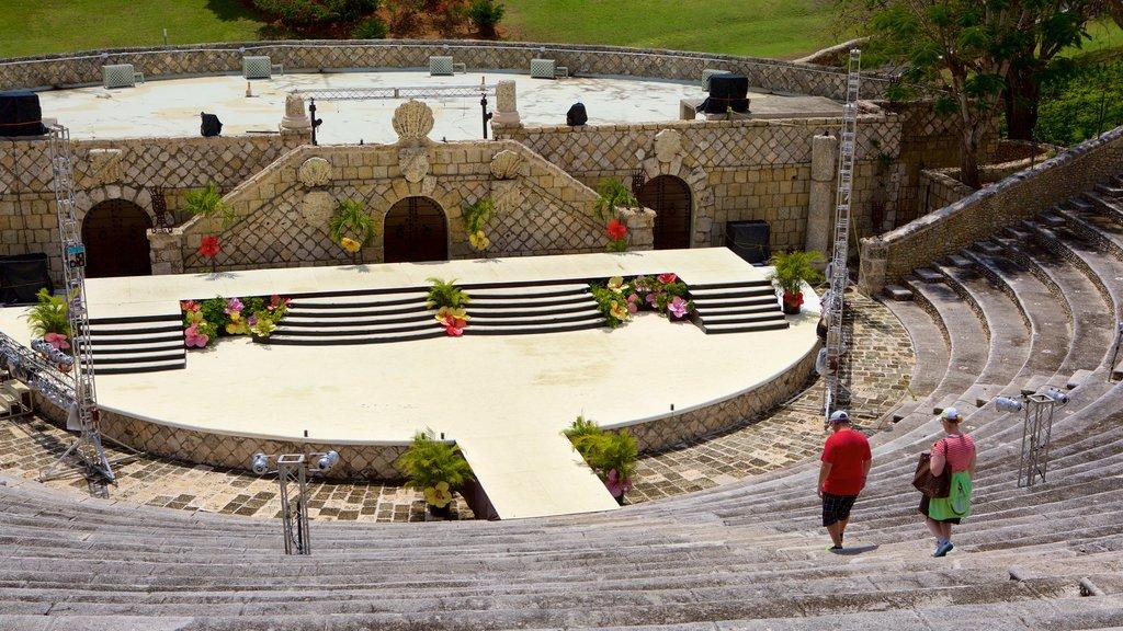 Altos de Chavon Amphitheater which includes theater scenes