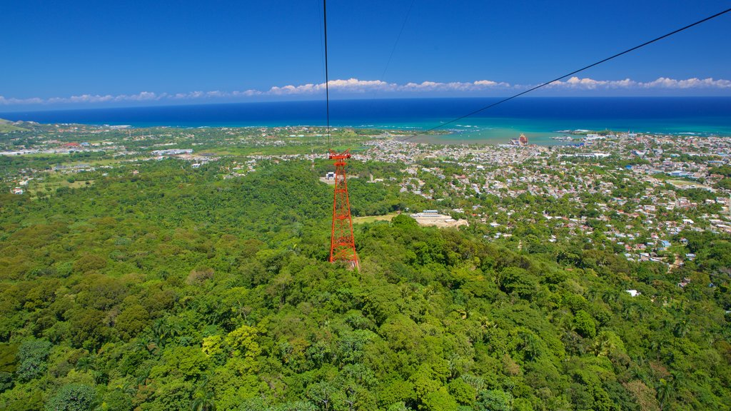 Puerto Plata Cable Car featuring general coastal views, a city and forest scenes