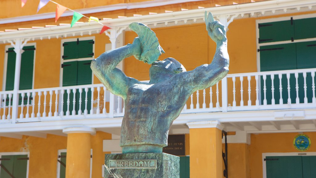 Frederiksted which includes a statue or sculpture