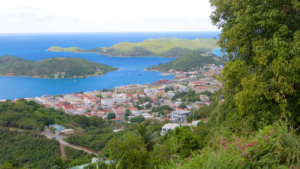 Charlotte Amalie which includes a coastal town and general coastal views