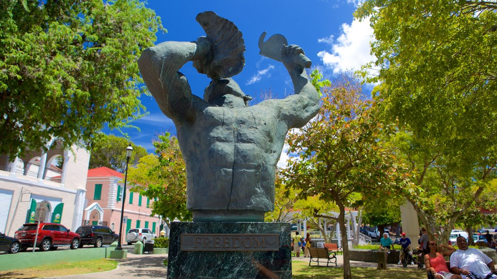 Charlotte Amalie showing a statue or sculpture