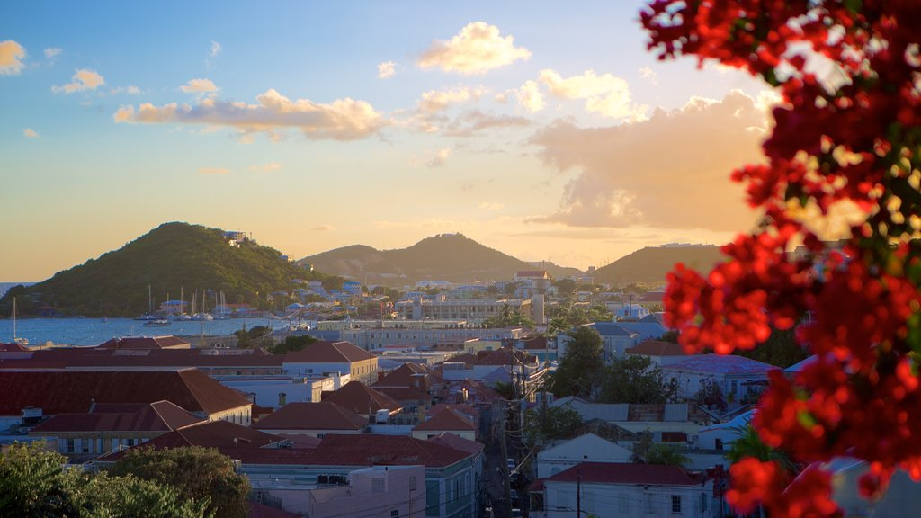 Charlotte Amalie which includes general coastal views, a sunset and a coastal town