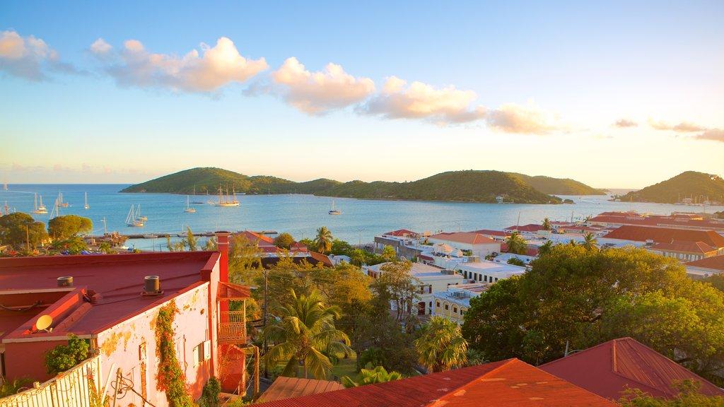 Charlotte Amalie featuring general coastal views and a coastal town