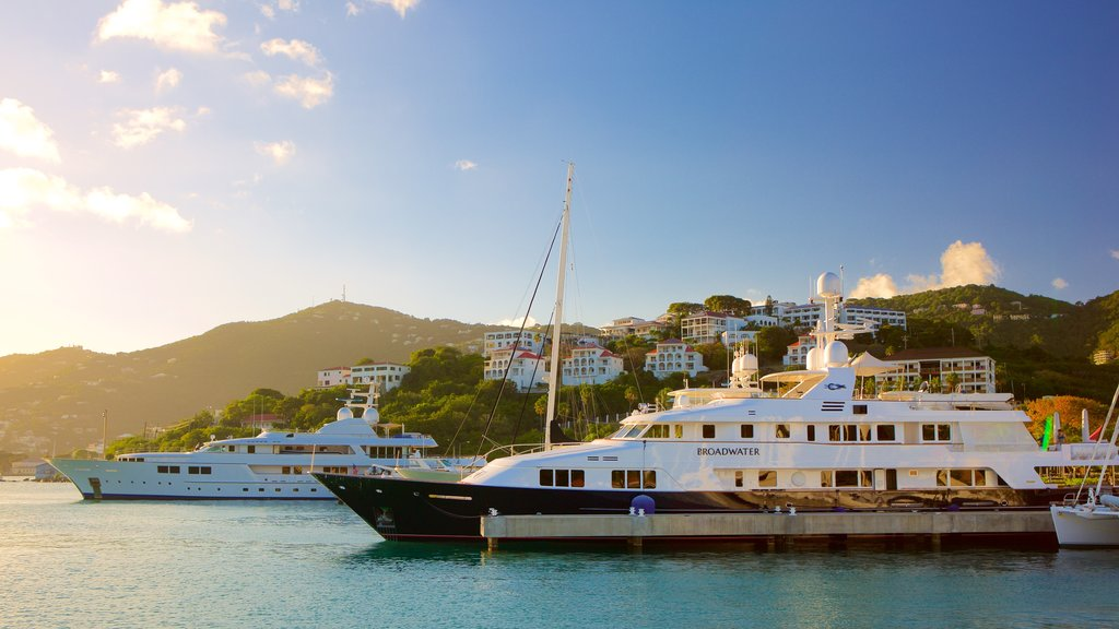 Charlotte Amalie featuring a coastal town, general coastal views and a bay or harbor