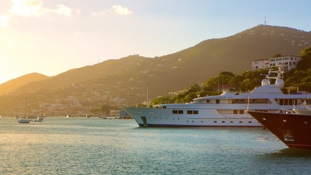 Charlotte Amalie which includes a bay or harbor, a coastal town and general coastal views