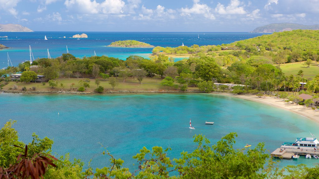 Virgin Islands National Park which includes a bay or harbor