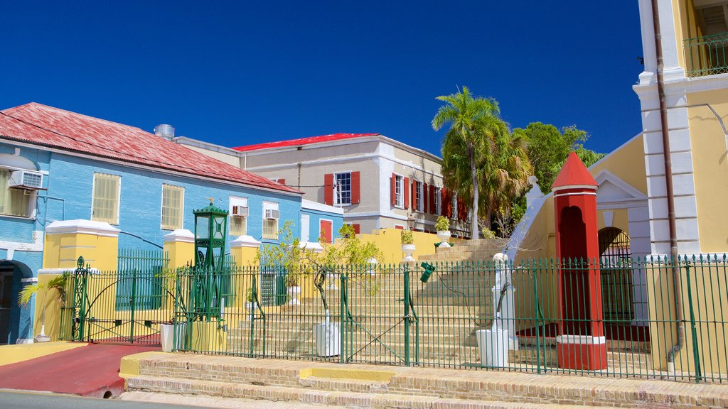 Christiansted which includes a small town or village