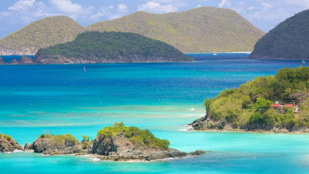 Trunk Bay showing island images