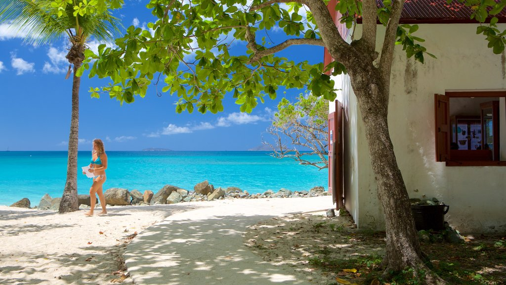 Cinnamon Bay which includes a beach and tropical scenes