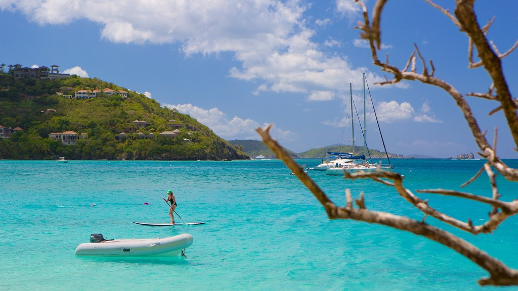 Cinnamon Bay showing watersports and a bay or harbor