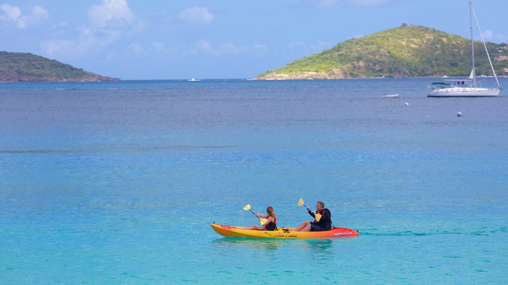 Honeymoon Beach which includes kayaking or canoeing and general coastal views