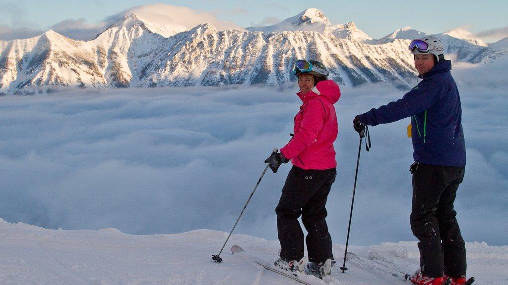 Fernie Alpine Resort featuring snow, mountains and landscape views