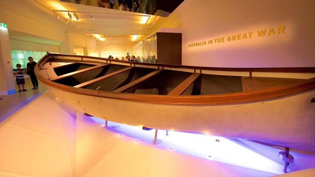 Australian War Memorial featuring interior views
