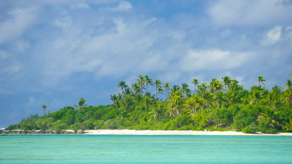 Aitutaki which includes general coastal views and tropical scenes