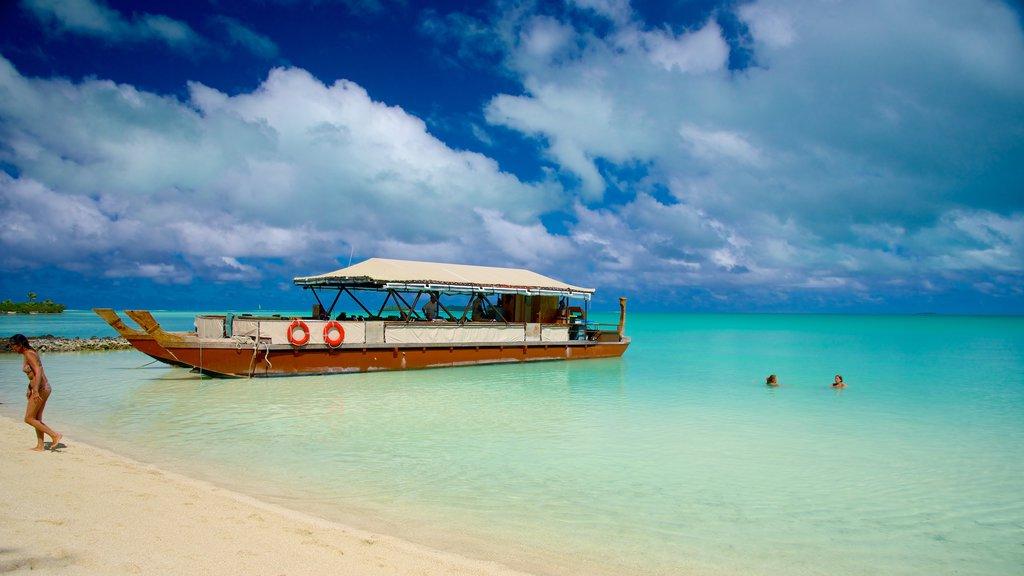 Aitutaki que incluye una playa
