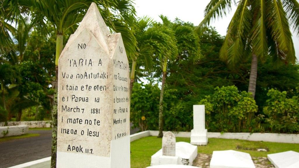 Rarotonga ofreciendo un cementerio