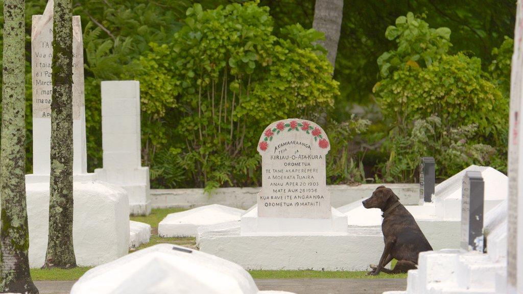 Rarotonga mostrando un cementerio