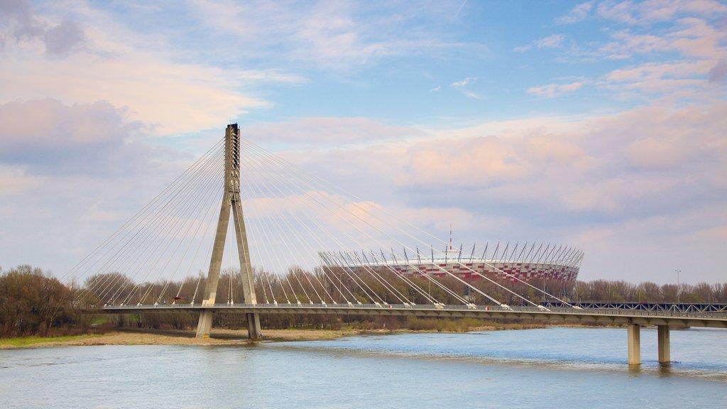 Poland featuring a river or creek and a bridge