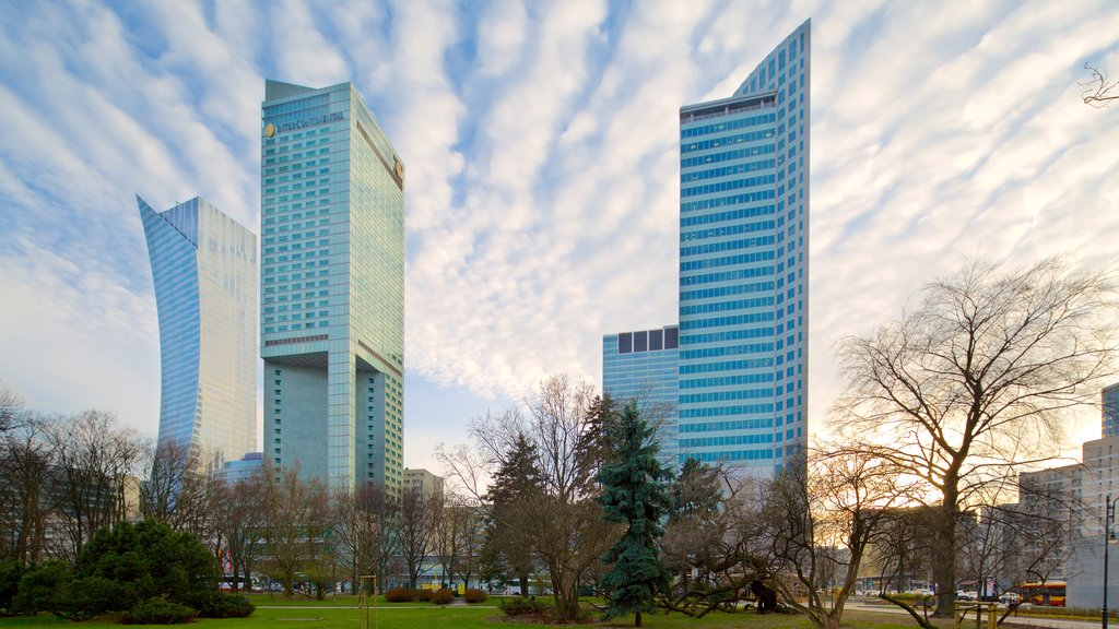 Warsaw showing modern architecture and a city