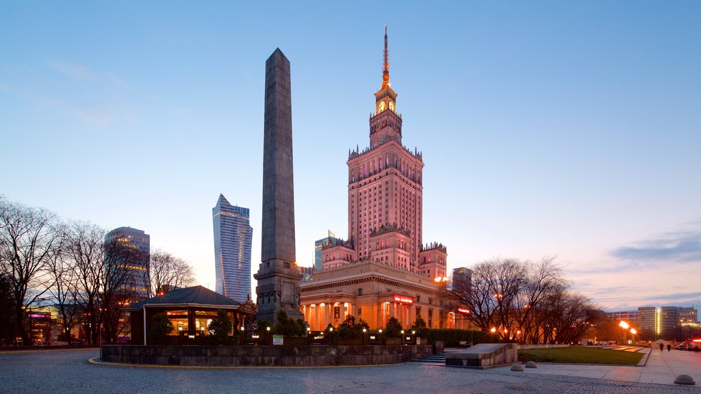 Palace of Culture and Science showing a city and heritage architecture