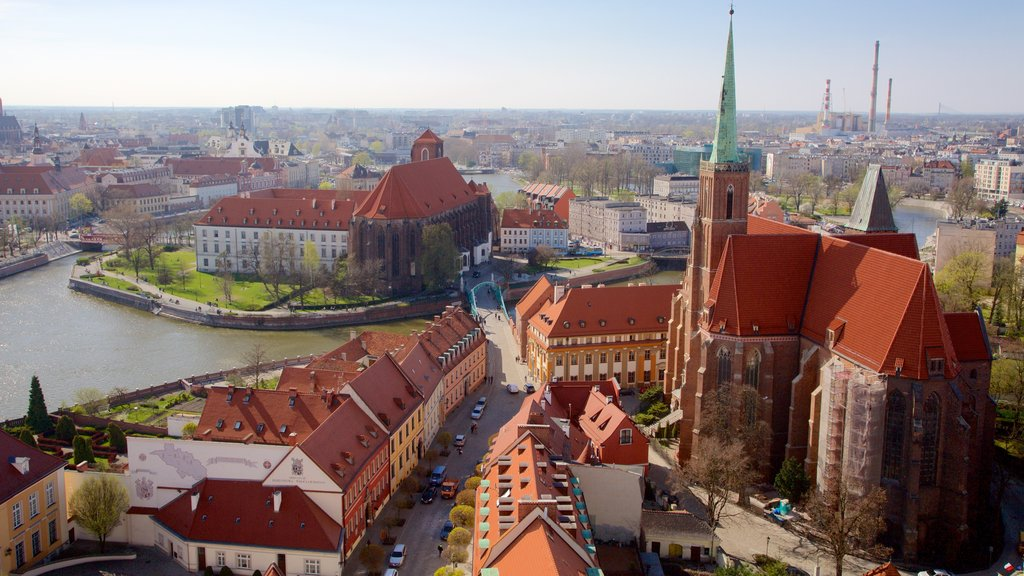 Wroclaw Cathedral showing a church or cathedral and heritage elements
