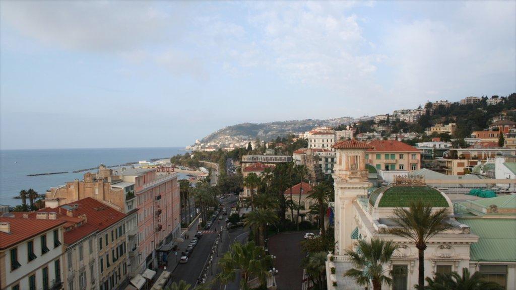 Sanremo showing general coastal views and a city