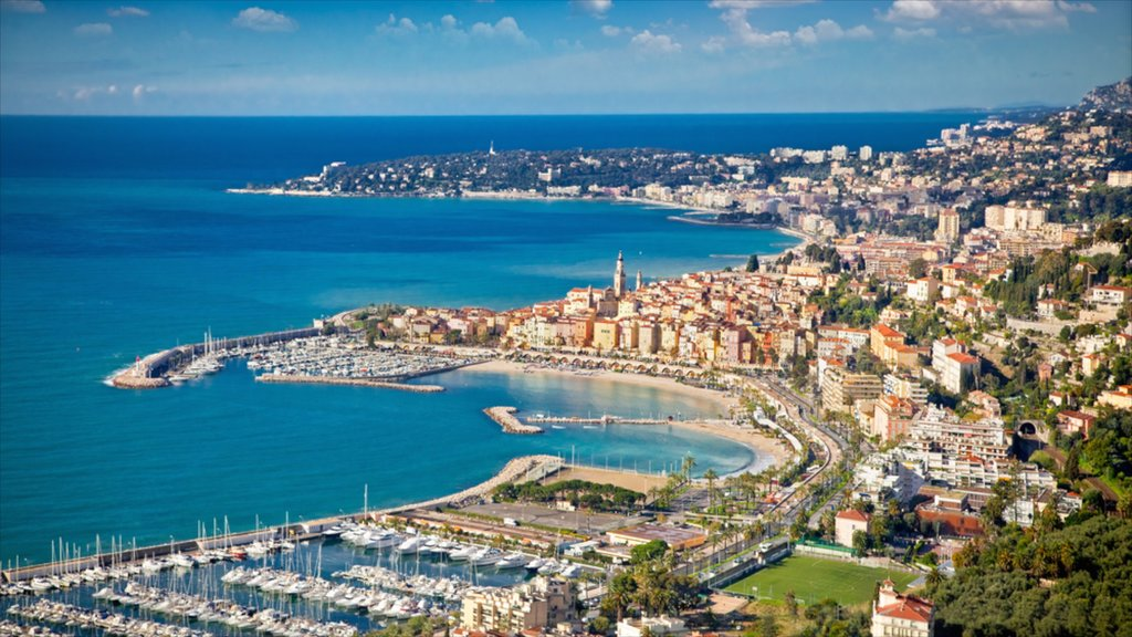 Sanremo which includes general coastal views, a city and a marina