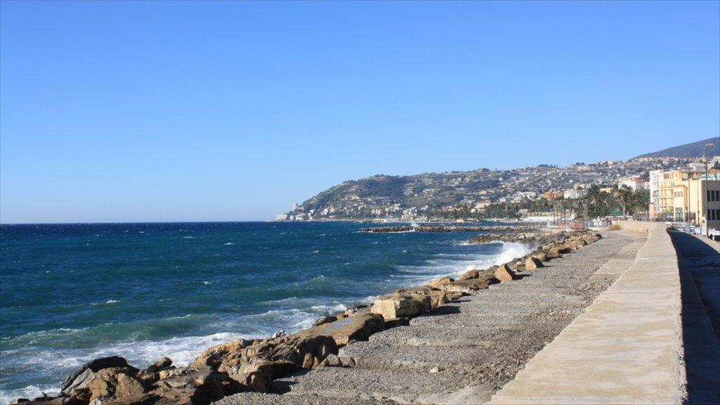 Sanremo showing rocky coastline
