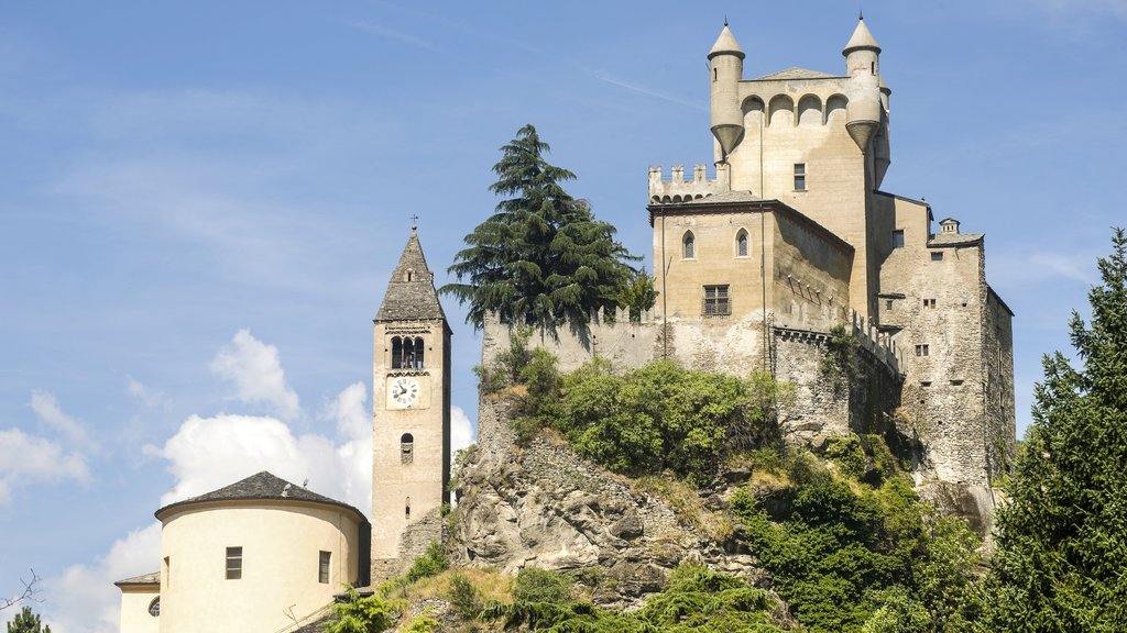 Aosta which includes heritage elements and a castle