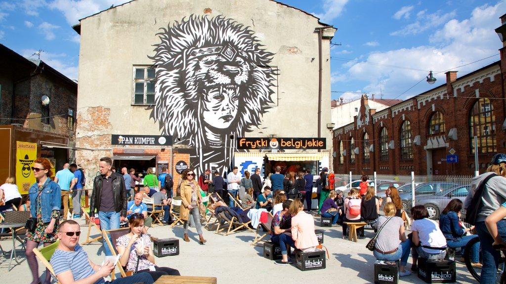 Kazimierz featuring markets and outdoor art