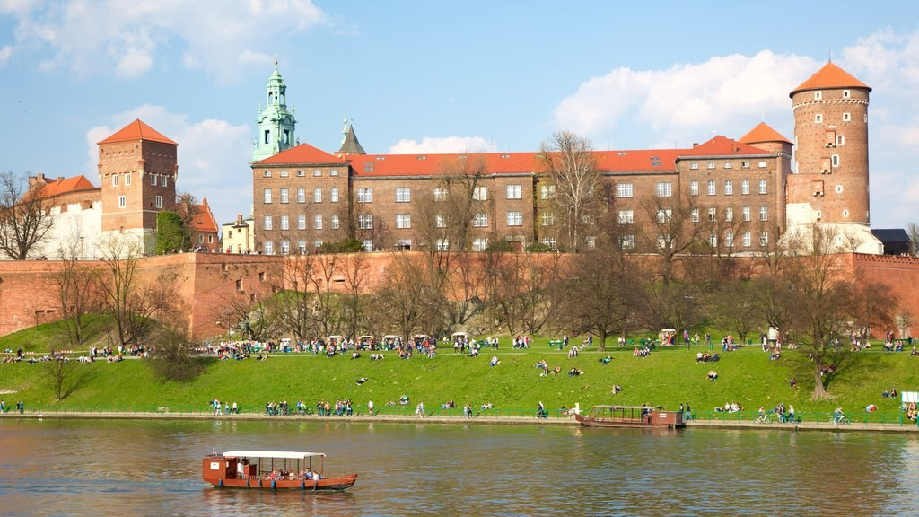 Wawel Castle which includes chateau or palace and a river or creek