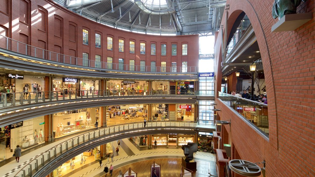 Stary Browar Shopping and Art Centre featuring shopping and interior views